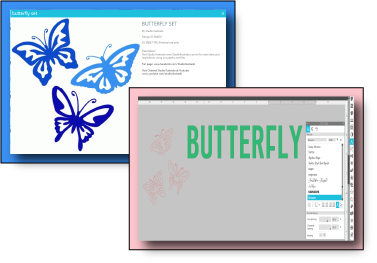 Butterfly Images from my Shilouette Design Space LIbrary.
