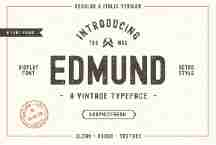 Edmund A Vintage Typeface